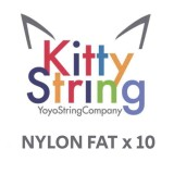 Kitty String NYLON FAT - White or Yellow x 10