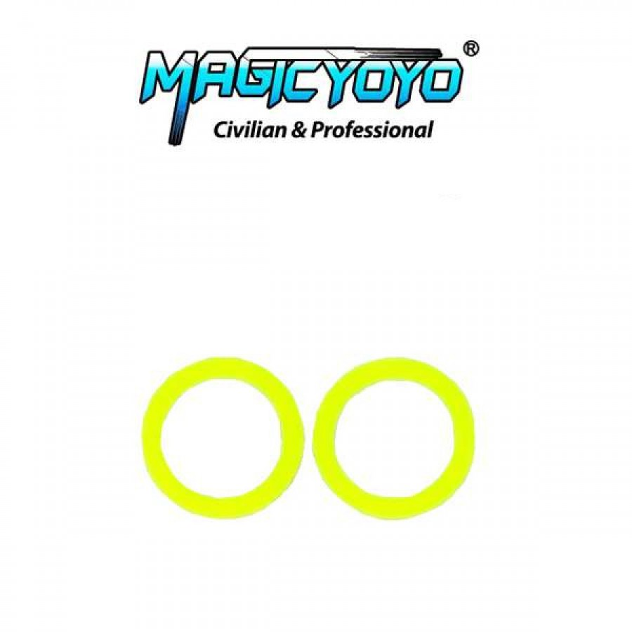 Magic yoyo standard large bearing slim response pad 19mm od yellow malvernweather Image collections
