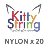 Kitty String NYLON - White or Yellow x 20