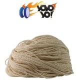 YoYo Yo! All-Rounder 50% Cotton / 50% Polyester HEAVY 8Ply (Type 8) String - WHITE x 10
