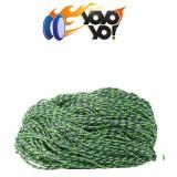 YoYo Yo! 100% PREMIUM Polyester 6 Ply (Type 6) MIX String - GREEN / WHITE / PURPLE x 10